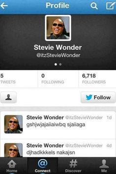 Stevie Wonder made a twitter profile lol