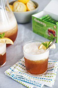 Summer's Arrival: a frozen cocktail made from @AlokozayCanada tea, lemon, & bourbon. This One Tough Cookie recipe & more at http://toughcookieblog.com #TEAdays