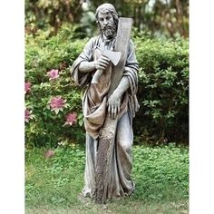 36 St. Joseph The Worker Garden Figure, Gray