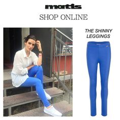 Pretty shinny leggings in bold shades are a must-have to step into the Spring season!