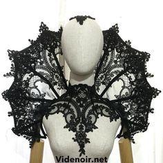 #vampire #collar #elizabethan #decorations #lace #appliques #goth #black #gothic #queen #elegant #meraluna ✨keep sewing