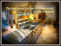 The best metal for use in commercial food equipment Food Equipment, Kitchen Equipment, Stainless Kitchen, Kitchen Appliances, Stove, Commercial, Good Things, Metal, Diy Kitchen Appliances