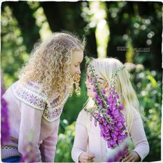Magical and inspirational. Knitted nordic clothes by their mother. That´s Love. Sisters, Crown, Inspirational, Wedding Dresses, Flowers, Photography, Clothes, Fashion, Bride Dresses