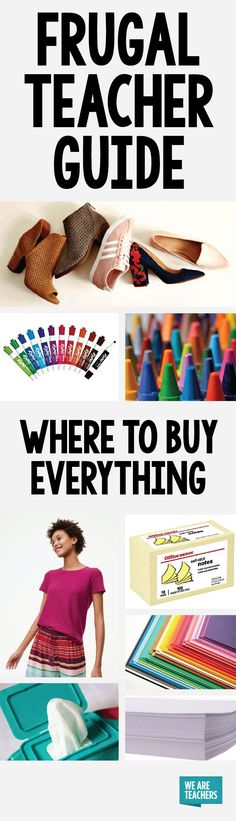 This is interesting! Where to buy everything for the best deal on school supplies, classroom supplies, teacher clothes, and other teacher essentials. Probably sponsored, but certainly worth a look!