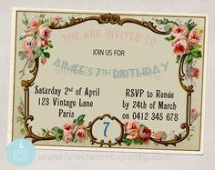 Vintage Invitation / Shabby Chic Invitation / by InviteMe2Party