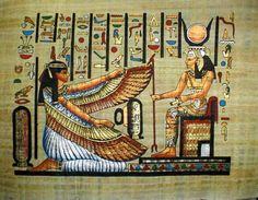 'Diosas egipcias Maat e Isis'