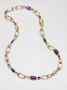Marco Bicego - Multi Gemstone & 18K Yellow Gold Necklace - Saks.com