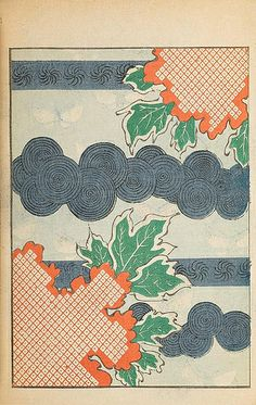 Selected pages from 1901 and 1902 issues of Shin-Bijutsukai, a Japanese design magazine. You can see the original magazines in their wonderful entirety here in our Books collection. Japanese Textiles, Japanese Patterns, Japanese Prints, Japan Illustration, Botanical Illustration, Design Japonais, Art Japonais, Japan Design, Art Chinois