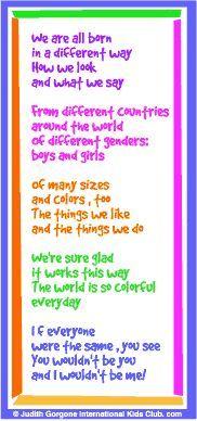 Image result for poem about diversity for kids