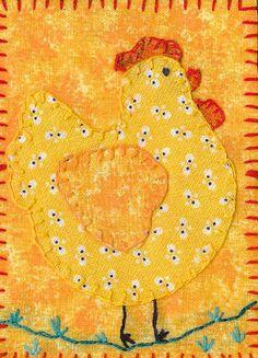 fat lttle hen..... appliqué