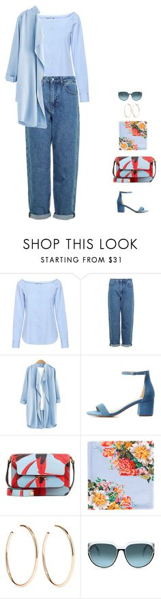 """blue jeans"" by candynena228 ❤ liked on Polyvore featuring Theory, Topshop, Charlotte Russe, Marni, Gucci, Jennifer Fisher and Steven Alan"
