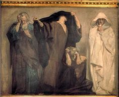Zephaniah, Joel, Obadiah, Hosea by John Singer Sargent, ca. 1895. This is part of a frieze of the prophets in the Boston Public Library