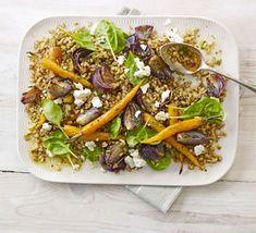 Farro salad with roasted carrots & feta recipe - Recipes - BBC Good Food