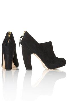 Graphic curve heel shoe boots  Topshop