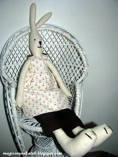 Scandinavian rabbit in a chair...