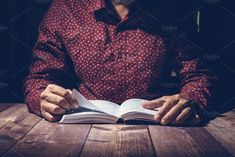 Pastor studying the Bible by Javier Art Photography on @creativemarket
