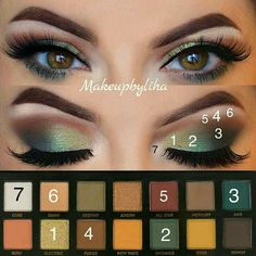 to do green eyeshadow makeup makeup beginners makeup prom revolution 144 eyeshadow palette 2017 makeup do revolution eyeshadow palette newtrals 2 apply eyeshadow makeup for bridal makeup Green Makeup, Love Makeup, Makeup Inspo, Makeup Inspiration, Beauty Makeup, Makeup Ideas, Simple Makeup, Makeup Tutorials, Fall Makeup Tutorial