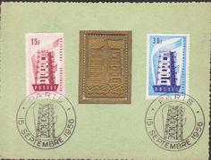 RARE EUROPA CEPT FRANCE SPECIAL 1956 MAXICARD MAXIMUM CARD R17025