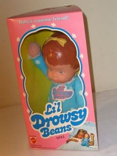 VTG 1982 LIL Drowsy Beads Mattel Doll Brunette NO 5736 | eBay