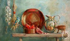 Павлова Мария. Натюрморт с попугаем