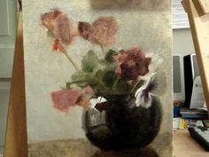 Pansies in Black - Alla Prima Oil Painting Demo - YouTube
