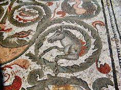 Mosaic: Roman Italy. Villa romana del Casale, Piazza Armerina, Sicilia