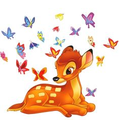 for me lm a BAMBI. as lm sweet and small and so dear like a doe that loves her butterflies. Bambi Disney, Arte Disney, Disney Cartoons, Disney Love, Disney Pixar, Bambi Art, Bambi And Thumper, World Disney, Disney Cookies