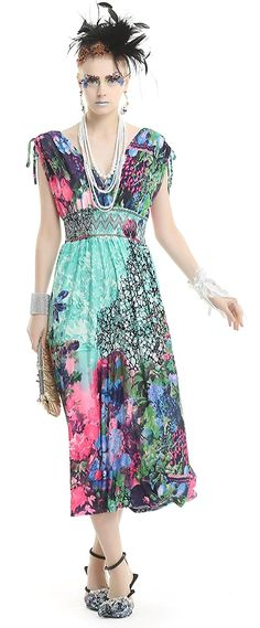 Polarfox Womens Plunge Neck Strappy Maxi Dress with Floral Print ^^ You can get additional details, click the image : Evening dresses