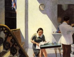 The Barber Shop, 1931 by Edward Hopper. Social Realism. genre painting. Private Collection