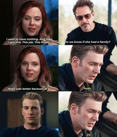 These scenes wouldn't have been possible if we didn't have a 3 hour runtime. The pacing may have been a bit unusual but the tonal shifts were perfect. Marvel 3, Black Widow Marvel, Marvel Films, Marvel Characters, Marvel Heroes, Marvel Quotes, Funny Marvel Memes, Dc Memes, Avengers Memes