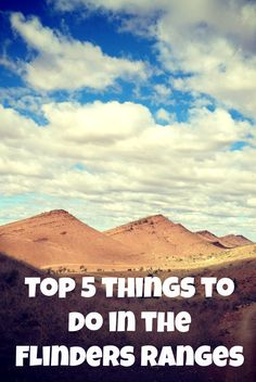 As the Flinders Ranges is a large national park. Here are a few things that you can do on and around the Eastern side (near Wilpena) of the Flinders Ranges. Australia Tours, South Australia, Australia Travel, Western Australia, Stuff To Do, Things To Do, Kangaroo Island, What A Wonderful World, Travel Around