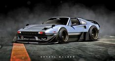 """""""Oh my god not another car ruined with bolt-on over fenders -_-"""" Pfftttt and what. I wanted to see what a Ferrari 288 GTO would look like with a Liberty walk LB Performance kit, so I made a Ferrari 288 GTO with a LBW kit. Supercars, Futuristic Cars, Ghost In The Shell, Car Drawings, Modified Cars, Jdm Cars, Sport Cars, Motor Car, Custom Cars"""
