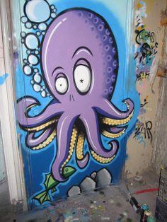 Grasp graffiti octopus   Flickr - Photo Sharing!