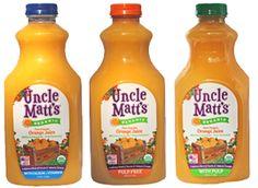 organic orange juice safeway brand | Uncle Matt's Organic Juice -- 100% Juice, with No Added Flavoring ...