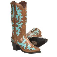 Dan Post Zephyr Inlay Cowboy Boots - Snip Toe (For Women)