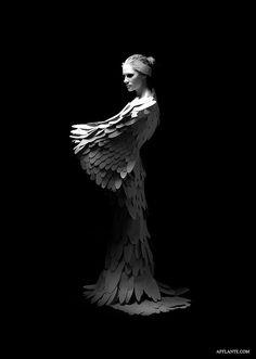 Paper Wedding Dress // Dana Jasinkevica & Dita Enikova   Afflante.com