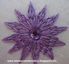 Let's learn embroidery: Flower stitch 2