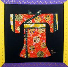 kimonos using origami or washi paper and maybe washi tape