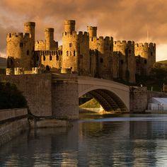 Conwy Castle, Wales, UK. Built by Edward I in the late 1200s. Northern Wales.
