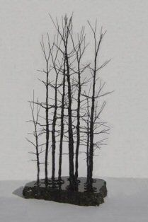 Artificial Bonsai Trees - Wire Bonsai Tree Sculpture - Forest Scene - Oxemize.com