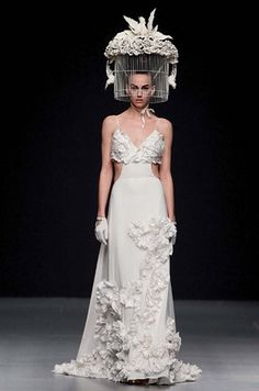 """Hate the """"birdcage"""", love the dress…. Jorge Terra 
