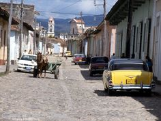 Some cobblestone streets made riding bumpy.  Everything moved at a slow pace.