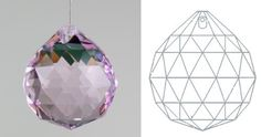 "Davidson Lighting 40mm 24% lead Crystal Ball Prism - 1.57"" Pink (Rosaline) Suncatcher by Davidson's Tea. $9.99. Davidson Lighting 40mm 24% lead Crystal Ball Prism - 1.57"" Pink (Rosaline) SuncatcherCan be used for multiple purpoces. Nice choice to dress your chandelier. Placed in window ornament will make rainbow.According to Feng Shui it brings Harmony and Fortune. Hung in windows, crystals can bring chi energy from the outside into dark areas of your home or office. ..."