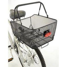 Axiom Market LX Rear Bike Basket Black Mesh for sale online Rear Bike Basket, Bicycle Basket, Bike Baskets, Bicycle Maintenance, Cool Bike Accessories, Market Baskets, Dog Carrier, Cycling Bikes, Trek Bikes