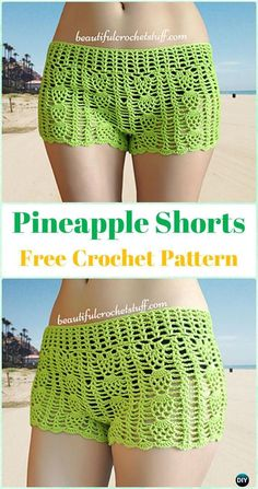 Crochet Pineapple Shorts Free Pattern - Crochet Summer Shorts & Pants Free Patterns