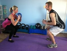 Tuesday Training: Partner Total Body Workout Routine with Core/Ab Emphasis Couples Who Workout Together, Workout Couples, Couple Workout, Fitness Tips, Fitness Motivation, Group Fitness, Toning Workouts, Ball Workouts, Buddy Workouts