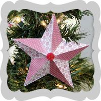 This papier mâché Scandinavian star gets a lot of character from scrapbook papers adhered with DecouPage. Finished off with a button, it adds the perfect touch to any Christmas tree. Use any scrapbook paper to match your theme. #Holiday