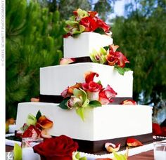 wish my wedding cake would have looked like this...only in  my colors...simple - yet elegant...
