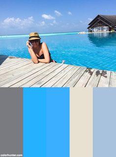 Diána Pusztai At The Anantara Dhigu Resort & Spa In Maldives! Color Scheme