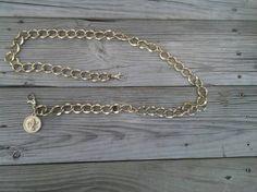 Vintage Gold Metal Link Belt Adjustable Accessory by 2CTreasures